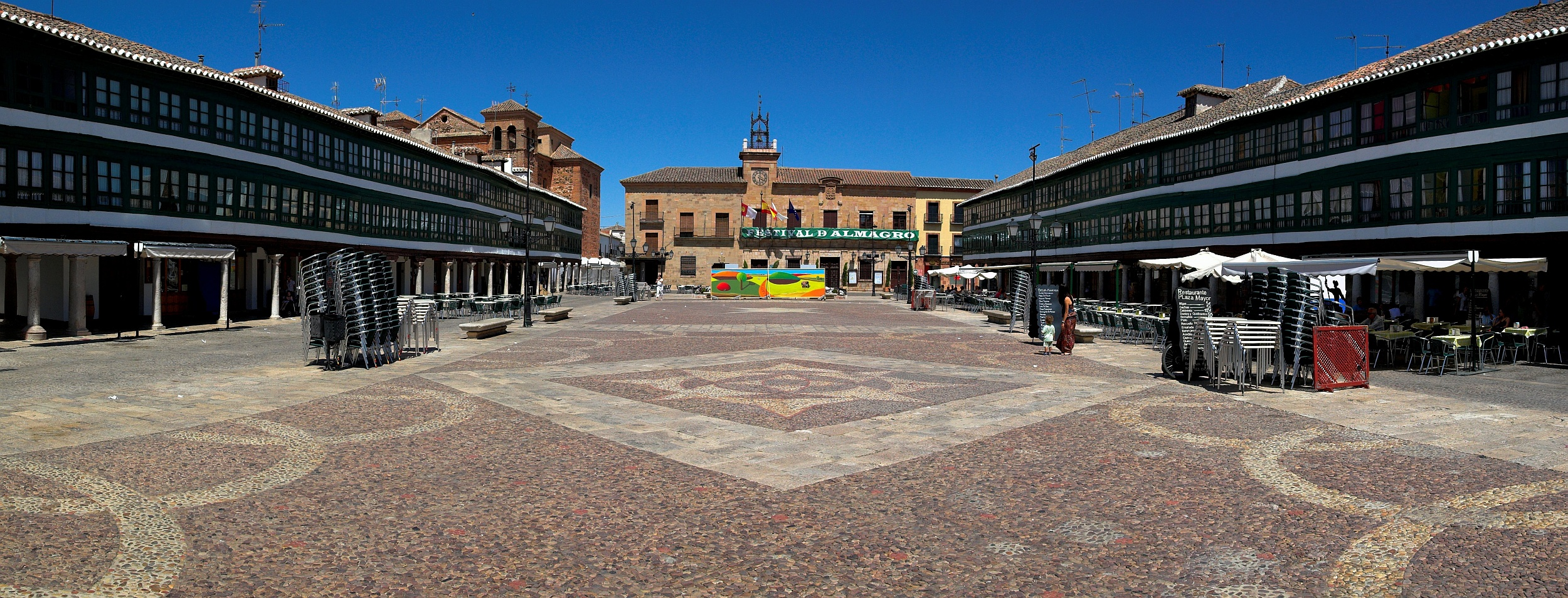 Panoramica de la Plaza Mayor de Almagro